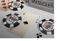 -- World Series of Poker bracelet and chips - 3D --