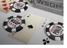 -- World Series of Poker bracelet and chips - 3D --