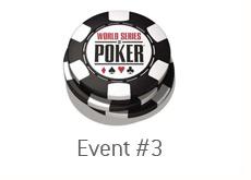 world series of poker logo on a chip - wsop